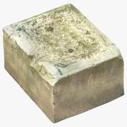 Oud betonblok 01 3d model