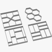 Collezione di stampi per pavimentazione 3d model