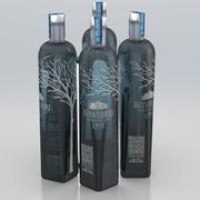 Alcohol Bottle Belvedere Vodka Sigle Estate Rye Lake Bartezek 700ml 2020 3d model