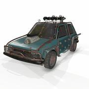 启示车低聚 3d model