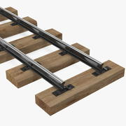 광업 철도 섹션 3d model