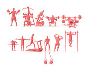 Low Poly Posed People Pack - 21 - Academia e Fitness 3d model