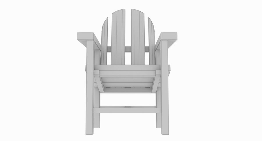 Strand houten stoel royalty-free 3d model - Preview no. 12