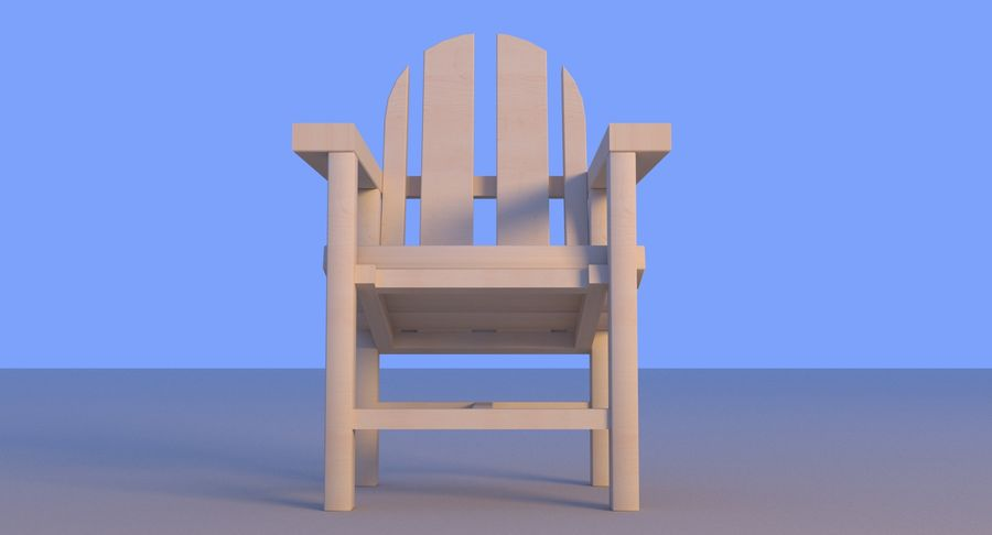 Strand houten stoel royalty-free 3d model - Preview no. 16