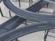 Highway Road Viaduct Flyover 05 3d model