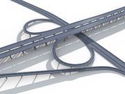 Highway Road Viaduct Flyover-06 3d model