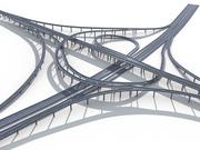 Highway Road Viaduct Flyover_07 3d model