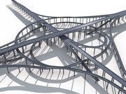 Highway Road Viaduct Flyover-08 3d model