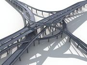Highway Road Viaduct Flyover-09 3d model