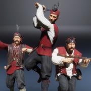 Guerriers pirates européens médiévaux 3d model