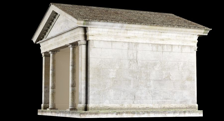 Classic Architectural Building Temple 3D Model royalty-free 3d model - Preview no. 6