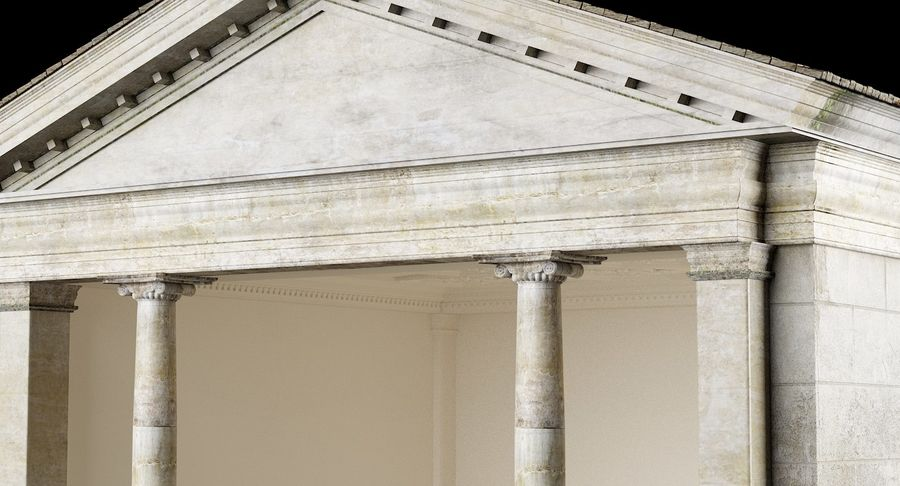 Classic Architectural Building Temple 3D Model royalty-free 3d model - Preview no. 3