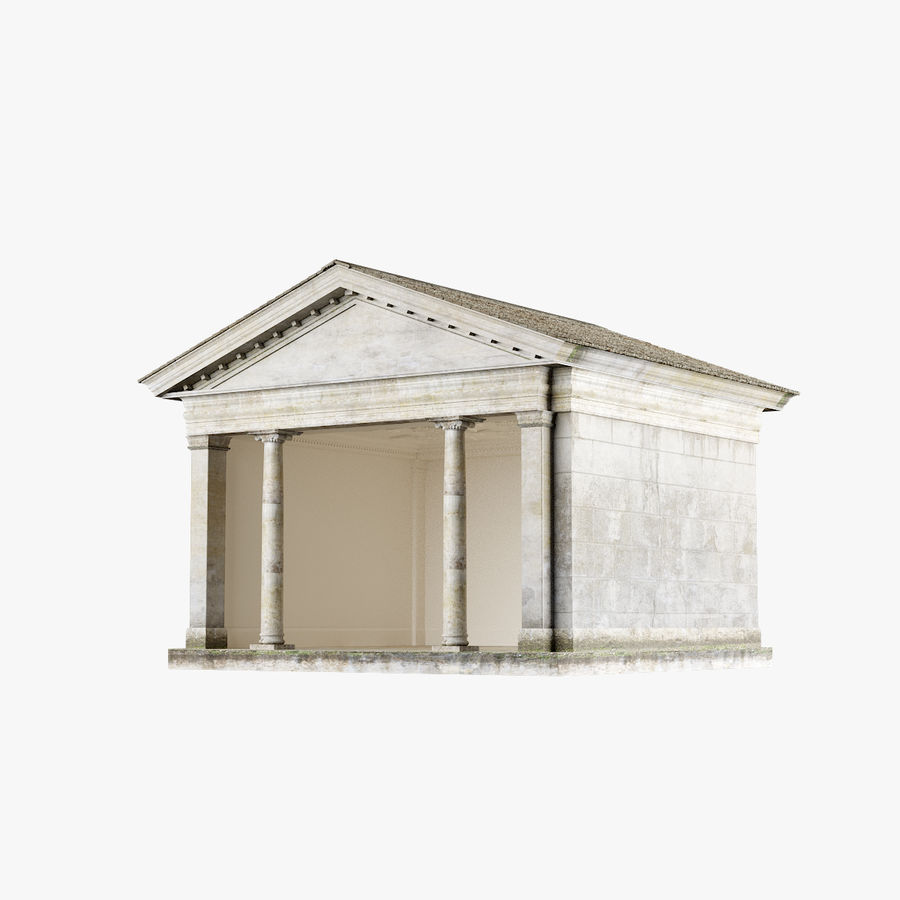 Classic Architectural Building Temple 3D Model royalty-free 3d model - Preview no. 1