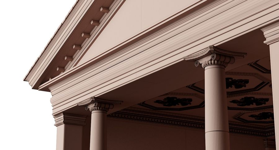 Classic Architectural Building Temple 3D Model royalty-free 3d model - Preview no. 9