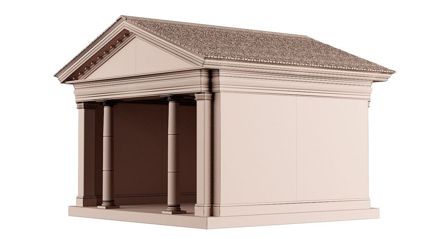 Classic Architectural Building Temple 3D Model royalty-free 3d model - Preview no. 8
