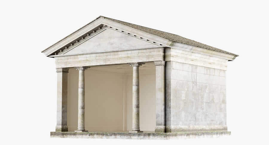 Classic Architectural Building Temple 3D Model royalty-free 3d model - Preview no. 2