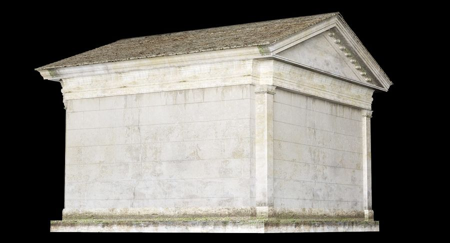 Classic Architectural Building Temple 3D Model royalty-free 3d model - Preview no. 7