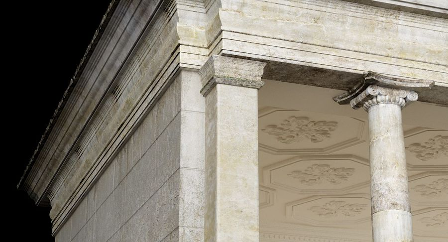 Classic Architectural Building Temple 3D Model royalty-free 3d model - Preview no. 5