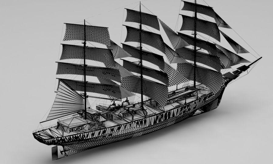 парусное судно royalty-free 3d model - Preview no. 13