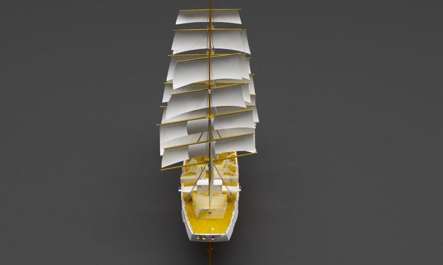 парусное судно royalty-free 3d model - Preview no. 4