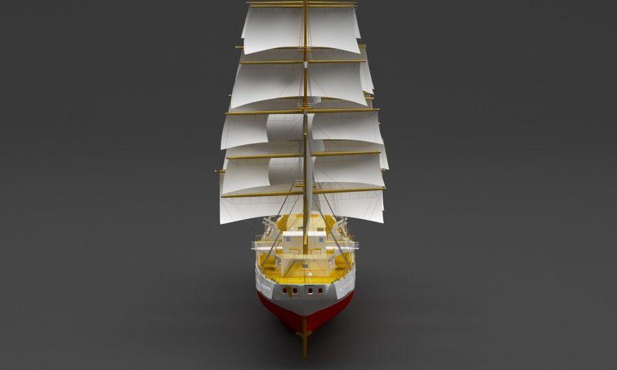 парусное судно royalty-free 3d model - Preview no. 5
