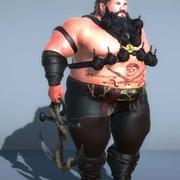 手榴弾と脂肪の海賊-3Dモデル 3d model