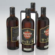 Butelka z alkoholem Havana Club Anejo 7 Anos Extra Aged Cuban Rum 700ml 2020 3d model