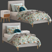 Adours Kids Darcy Bed and Jax Sidobord 3d model