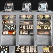 디저트 냉장고 3d model