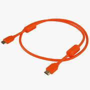 HDMI-kabel met hoge snelheid 09 3d model