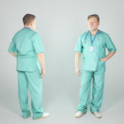 Adult surgical doctor male 71 3d model