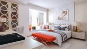 寝室のモダンなインテリアデザイン 3d model