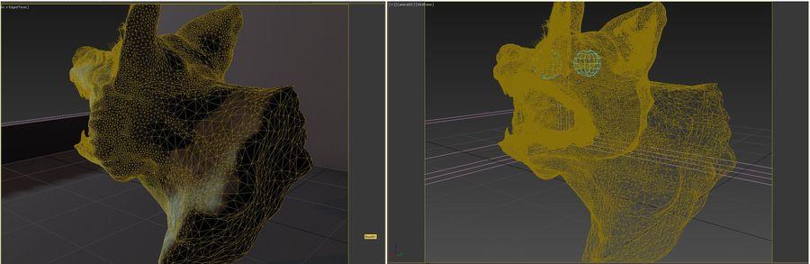 Kurt kafası royalty-free 3d model - Preview no. 9