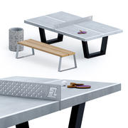 Стол для пинг-понга на открытом воздухе 3d model