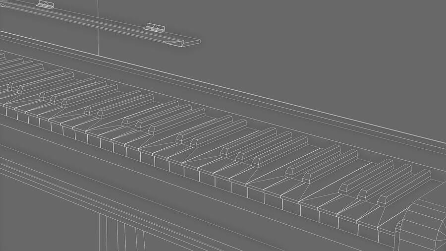Klavier royalty-free 3d model - Preview no. 9