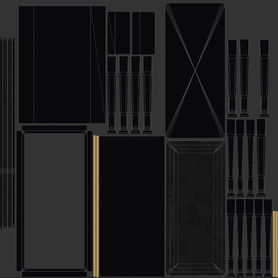 Klavier royalty-free 3d model - Preview no. 15
