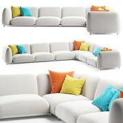 Paola Lenti MELLOW沙发 3d model