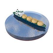 タンカー船 3d model