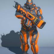 带RPG的科幻半机械人士兵 3d model