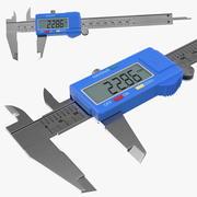 液晶数字游标卡尺通用 3d model