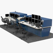 Set di workstation per ufficio 3d model