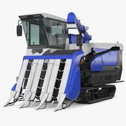 Rice Combine Harvester 3d model