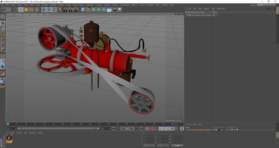Two Stroke Piston Engine 3d Model 79 Max Obj Ma Fbx C4d Blend 3ds Free3d