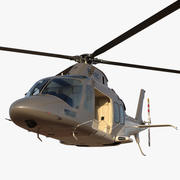 Agusta AW109S Grand Rigged 3d model