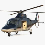 Agusta AW109S Grand Black Rigged 3d model