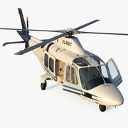 Agusta AW109S Grand Blue Rigged 3d model