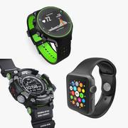 스포츠 시계 컬렉션 3d model
