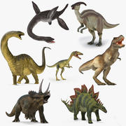 Dinosaurs Rigged Collection 2 for Maya 3d model