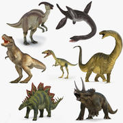Dinosaurs Rigged Collection 2 for Cinema 4D 3d model