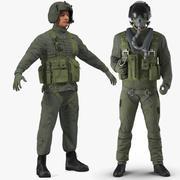 Коллекция снаряжения военных летчиков США для Майи 3d model